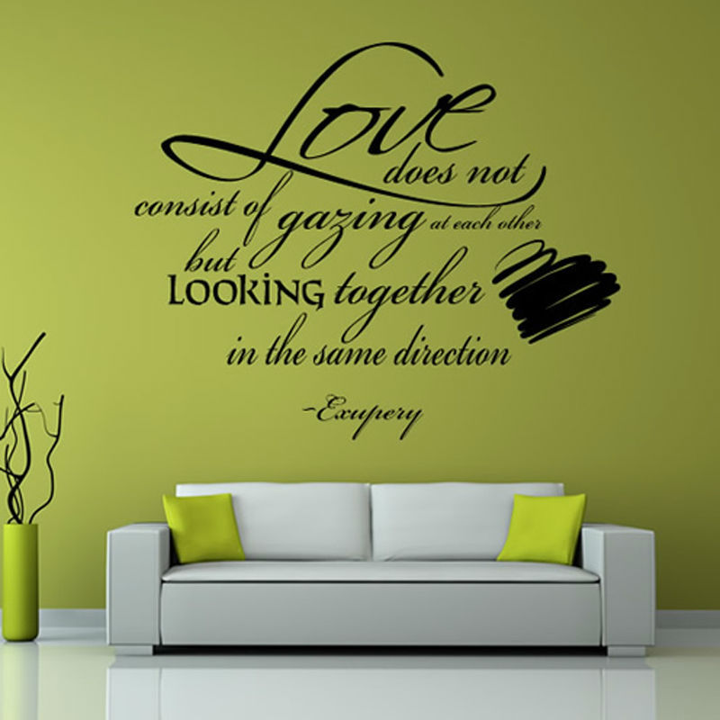 DCTOP Love Does Not Consist Of Gazing At Each Other Quotes Wall Decal Art  Vinyl Removable Sayings Wall Sticker Living Room In Wall Stickers From Home  ... Part 22