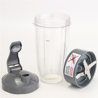 Durable Quality Plastic Acrylic 600W 900W Extractor Blade 32OZ Tall Cup Flip Lid For NutriBullet Nutri