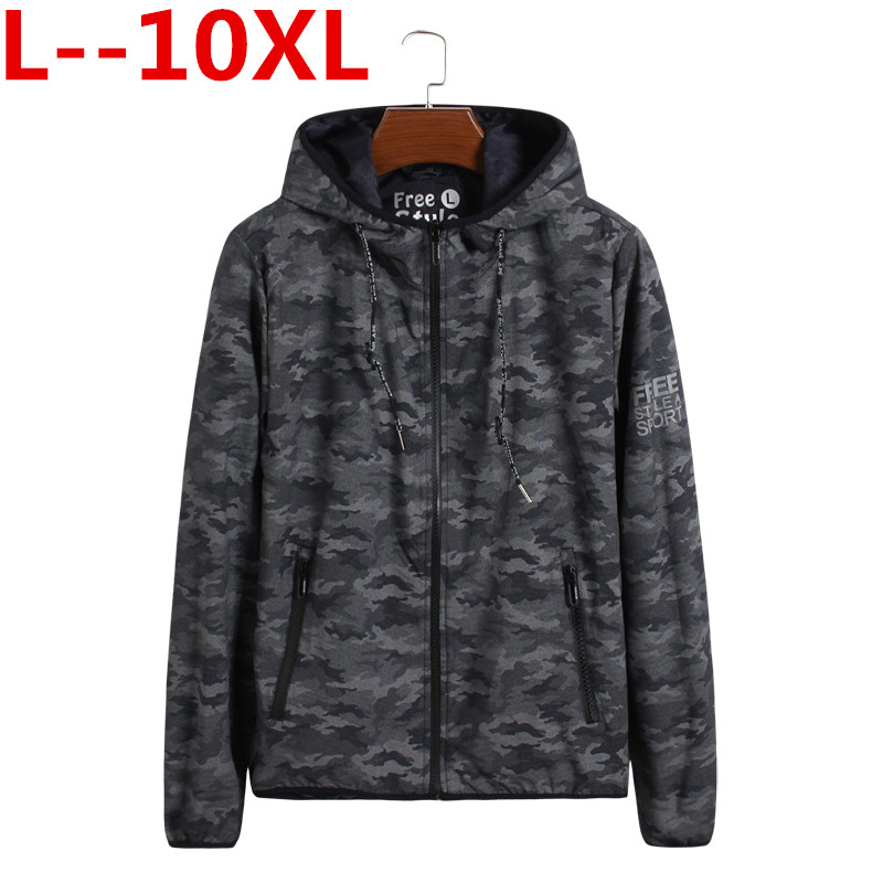 10XL 8XL 6XL 2018 high street Europe street camo Jacket Hip Hop Suit Pullover spring Jacket Men Coat fashion men Casual jacekts ...