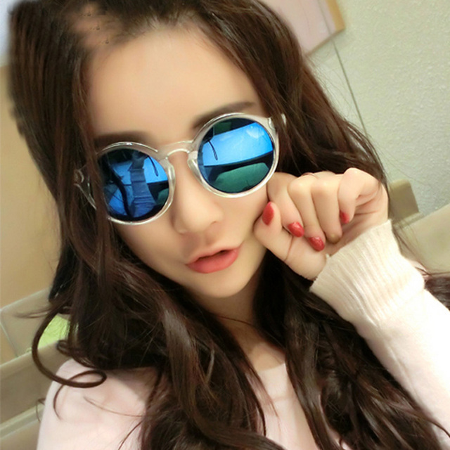 4d36ee9fc1 Korea ulzzang retro Vintage round sunglasses eyewear uv400 mirror lens  brand designer freeshipping