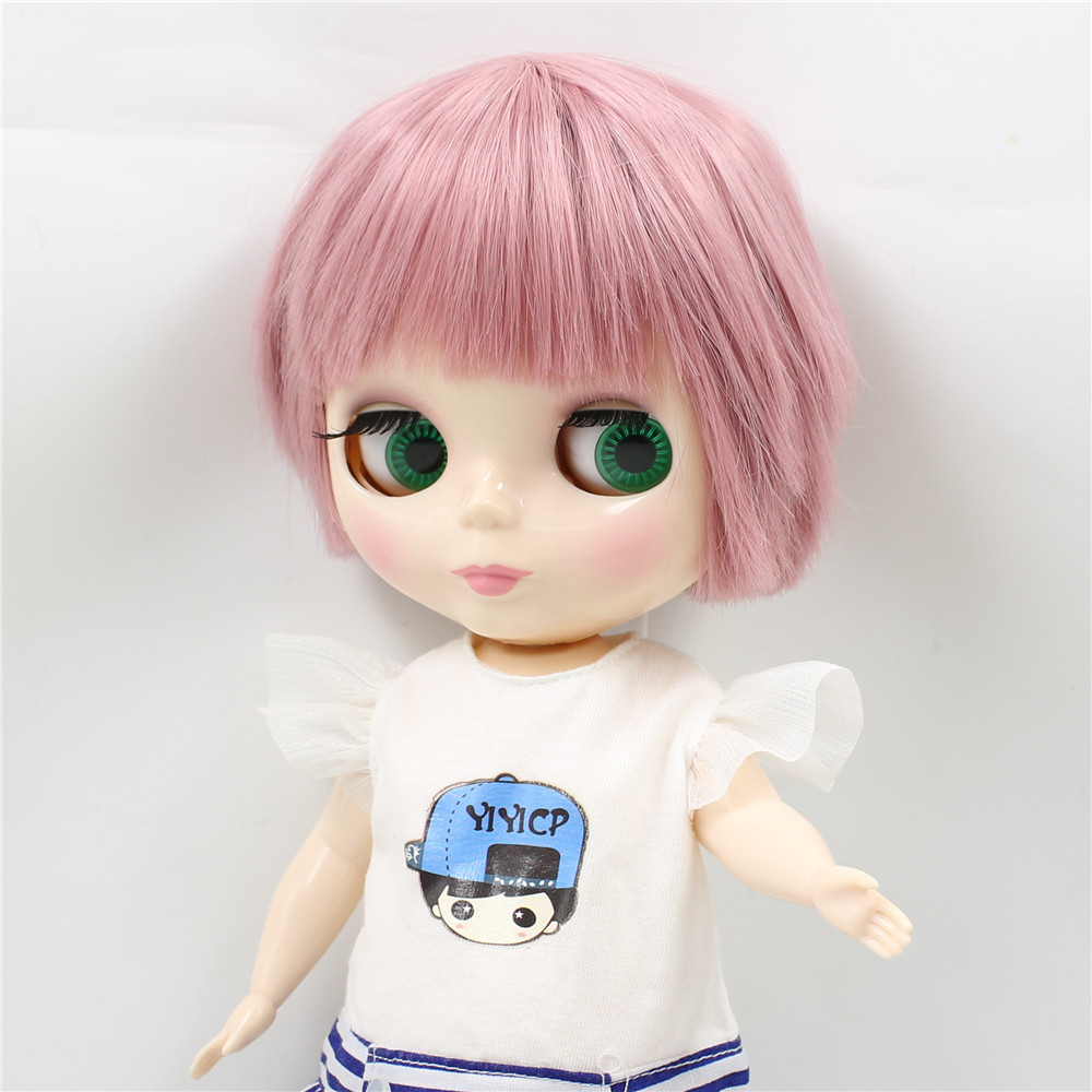 Neo Blythe Plump Doll with Pink Hair, White Skin, Shiny Face & Fat Body 2