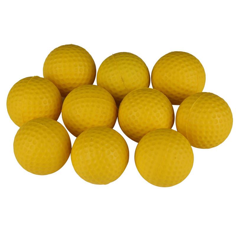 10 шт. гольф mi гольф крытый открытый обучения начинающих ми мягкой trench мяч PU желтый гольф мяч