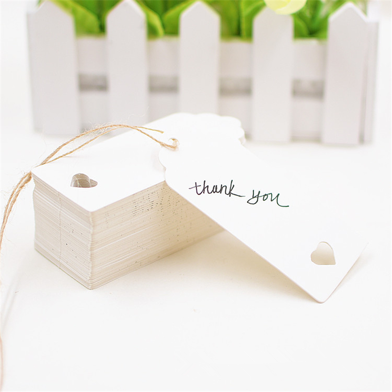 Gift Wrapping Supplies 200 PCS Paper Tags with 40 Meters Rope DIY Craft Label Luggage Party Favor Wedding Party Note Hang Tag,5