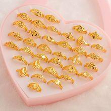 MYDANER модные шармы 36 шт./лот смешанные кольца золотые винтажные женские смешанные стильные кольца оптом ювелирные изделия много для женщин Свадебная вечеринка