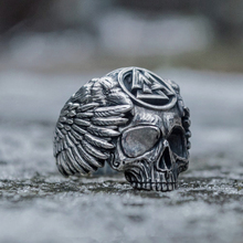 Odin with Ravens Stainless Steel Ring Mens Silver Viking Valknut Sukll Norse Amulet Jewelry