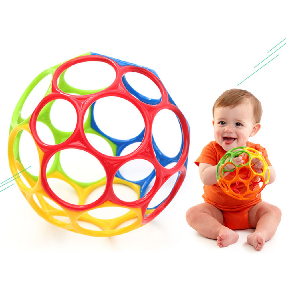 Baby Rattles Teethers Colorful Soft Ball Toys Touch Bite Hand Trapped Baby Grasp Children Gift Mobiles Baby Soft Kids Learning