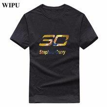 WIPU 2017 New Fashion Stephen Curry 30 T Shirt Men Short Sleeve Cotton T Shirts Tops Curry T-shirt Tee Fashion Clothing