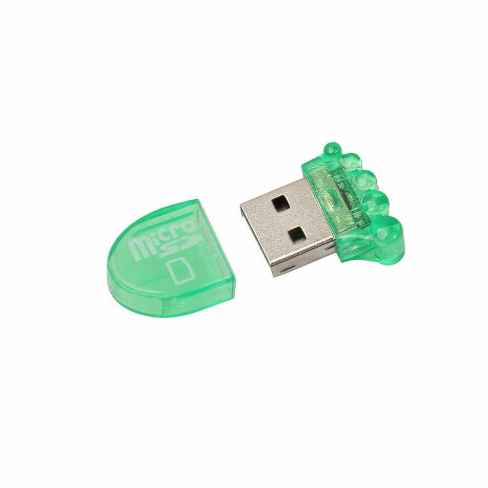 TF قارئ بطاقات عالية السرعة البسيطة USB 2.0 مايكرو SD TF T-فلاش ذاكرة محوّل قارئ البطاقات PC/ماك الكمبيوتر مع USB ميناء