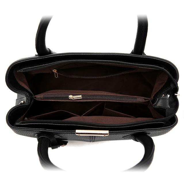 YASICAIDI Top-handle Women Tote Bag Lady Handbag OL Style Shoulder Bag Casual Zipper Messenger Bag PU Leather Handbag Satche Sac