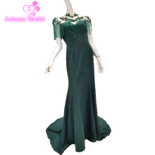 AOLANES Green Sexy Women Mermaid Prom Dresses Party Dresses