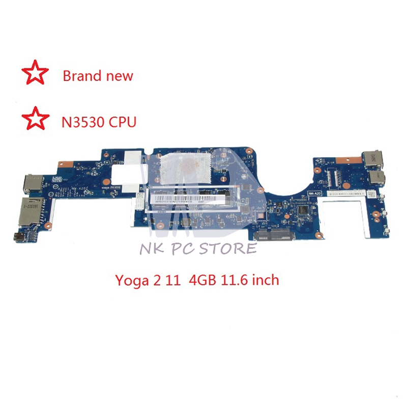 NOKOTION Brand New AIUU1 NM-A201 MAIN BOARD For Lenovo yoga 2 11 Laptop Motherboard SR1W2 N3530 CPU onboard nokotion brand new cn 0y3pxh 0y3pxh for inspiron 15 3531 laptop motherboard zbw00 la b481p sr1w2 n3530 cpu onboard ddr3