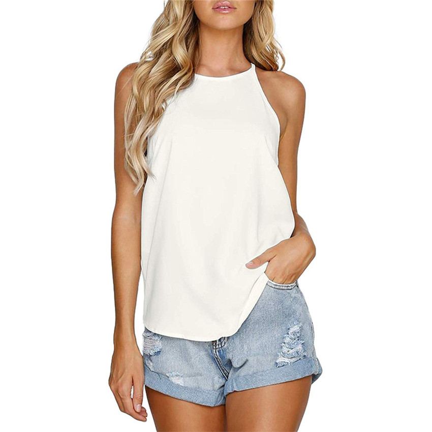 Summer tank top women white top femme 2019 New Solid tank tops Casual streetwear Loose tops mujer verano 2019 Tanks image