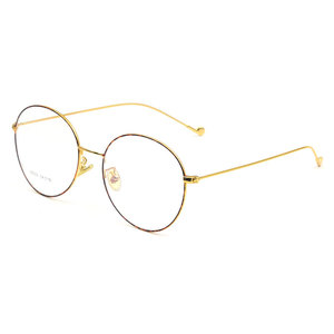 Image 4 - Vintage Style Women/Men Popular Round Metal Clear Lens Glasses Frame Trendy Unisex Anti radiation Spectacles Frame X2023 Glasses