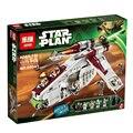 Lepin 05041 Genuine Star Series Guerra A República Gunship Conjunto Educacional Blocos de Construção de Tijolos Brinquedos 75021