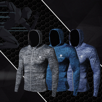 Men's New Autumn and Winter Sports Fitness Jacket Basketball Training Suit Outdoor Running Quick Dry Long Sleeve
