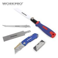 WORKPRO Folding Knife Utility Knife Pipe Cable Cutter 3 IN 1 Combination Saw Quick Change Saw with Blades