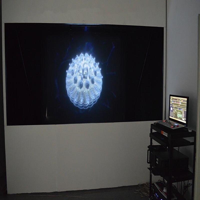 Film de Projection arrière holographique noir HOHOFILM 1.52x2m pour Film d'écran d'affichage hologramme Portable 60 ''X 78.74''