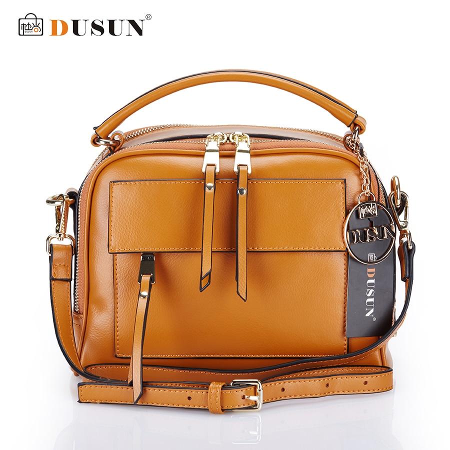 DUSUN Brand Women Messenger Bags Genuine font b Leather b font Bags Women Real font b