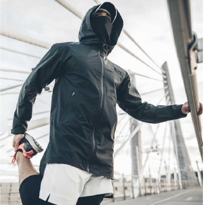 Fitness Jas Mannen Herfst Winter Running Jas Jas Mens Sport Donsjack Mannelijke Hooded Sweatshirt Fitness Bodybuilding Gym Top