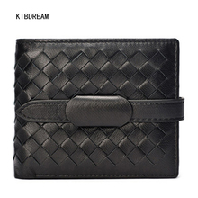 KIBDREAM 2017 Genuine Leather Luxury Sheepskin Women Short Wallet and Fashion Coin Pocket Free Shipping