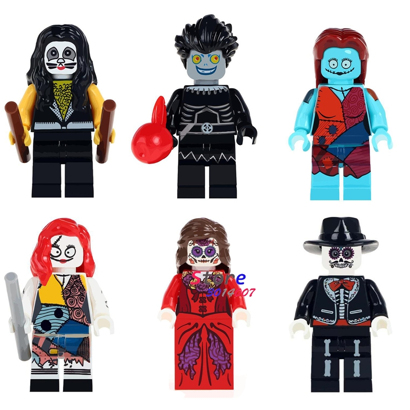 50pcs Drummer Eric Yagami Light Nightmares Sally Horror Theme Movie Woman Skeleton building block bricks for