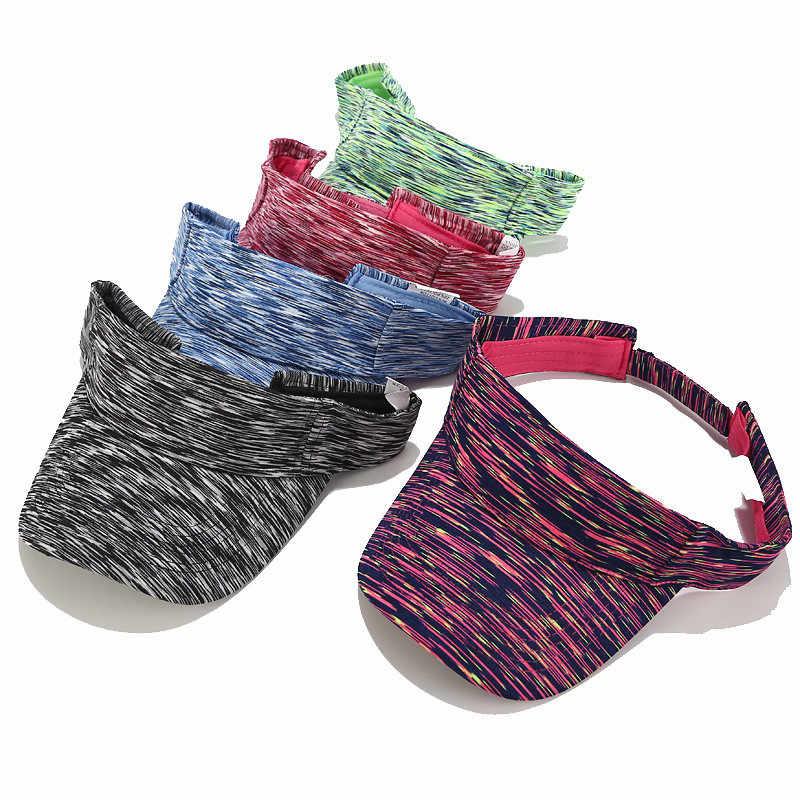 SAGACE ฤดูร้อนปรับหมวกกีฬากลางแจ้งลายผู้ชายผู้หญิงดวงอาทิตย์ Visor หมวกหมวกกอล์ฟหมวก Breathable แห้งเร็ว Sunhat
