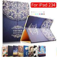 Case For IPad 2 3 4 Leather Case Protective Smart Cover Case For IPad 2 New