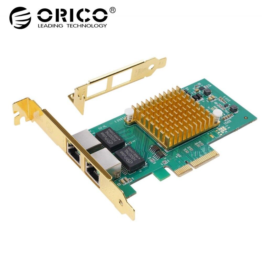 ORICO 2 порта PCIE для Гигабитного сетевого адаптера для Windows Server 2003, Linux, OS INDEPENDENT, VIsta, win10