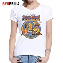0bb46499f REDBELLA Vintage Retro Female T-shirt Chic Funny Parody Print Cotton  Hipster Cool Short Sleeve Hot Popular Graphic T Shirt Women