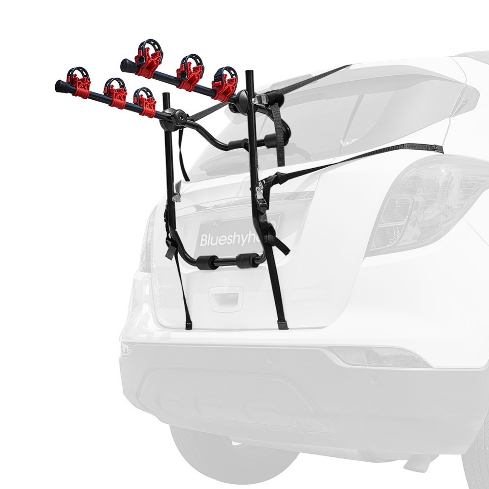 3 bike trunk mount racks cycling bicycle stand quick installation rack storage carrier car racks