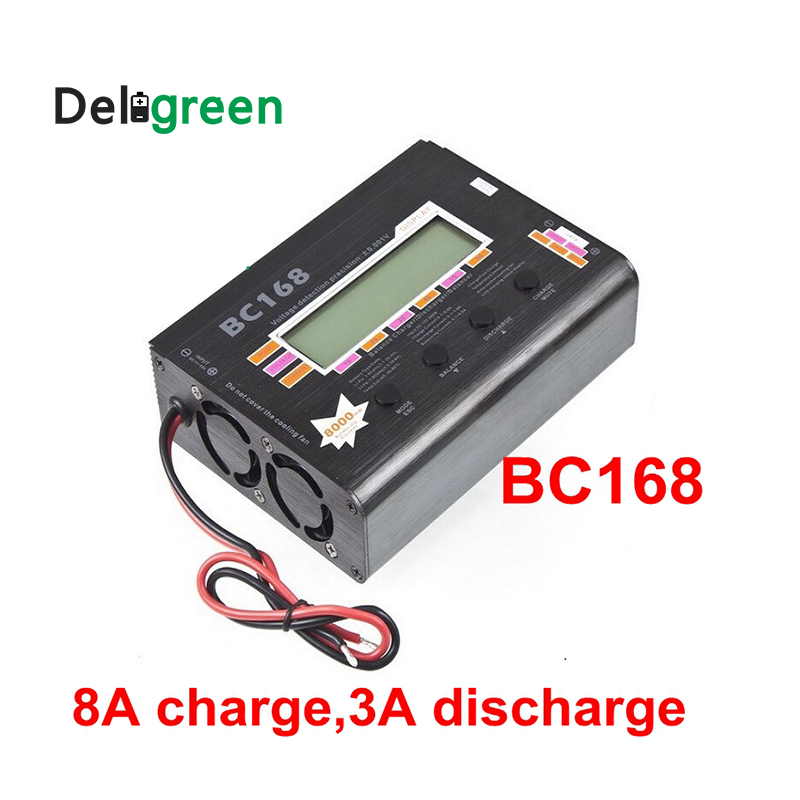 AOK BC168 1-6S 8A 200W Super Speed LCD Intellective Balance Charger/Discharger rc helicopter part Dropship