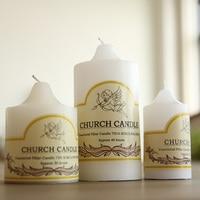 The new birthday candle smoke free wedding wedding white church romantic creative Aromatherapy Candle 3 selection