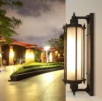 60 см ретро открытый настенные светильники садовые освещение плюс длинные винтажные стекла наружного освещения E27 Водонепроницаемый бра дв