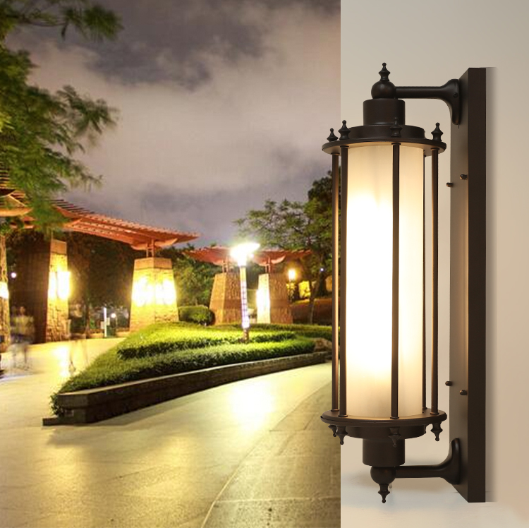 60cm Retro Outdoor Wall Lights Garden lighting plus long ...