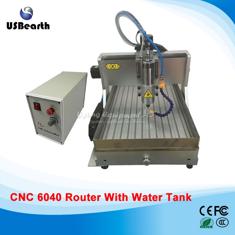LY CNC 6040 Z-VFD 2.2KW USB port 3axis CNC router milling machine for hard metal with water tank,free tax to EU no tax to eu 1500w cnc router 8060 3axis usb port mach3 control ball screw for metal aluminum stell wood etc