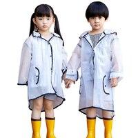 Водостойкие eva/дождевик для девочек прозрачные детские ветрозащитный плащ пончо Дышащие Детские непромокаемая одежда для мальчиков куртка...