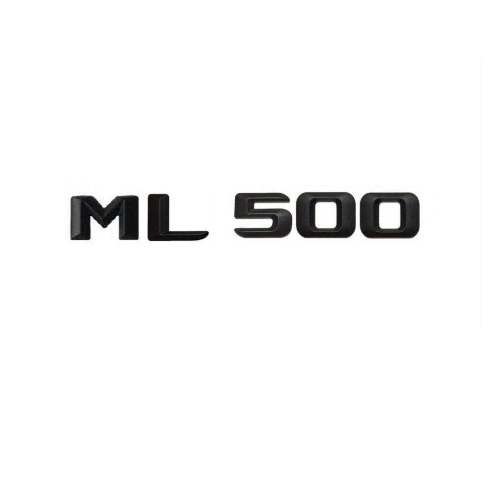 Matt Black  ML 500  Car Trunk Rear Letters Word Badge Emblem Letter Decal Sticker for Mercedes Benz ML Class ML500
