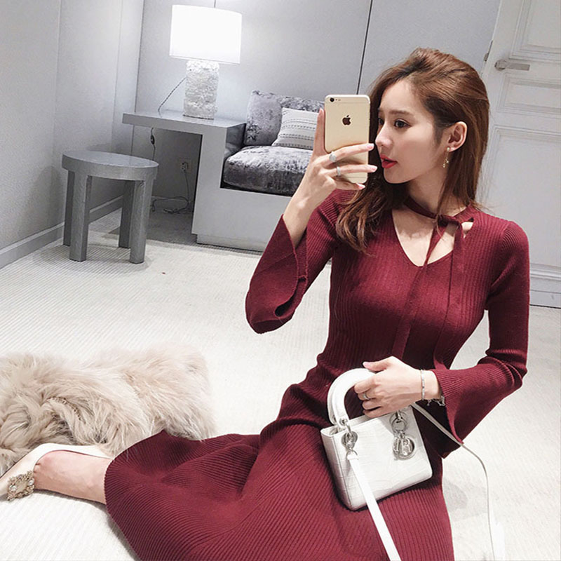 Big size women s fat mm spring dress wide missus fat sister thin winter clothes noble