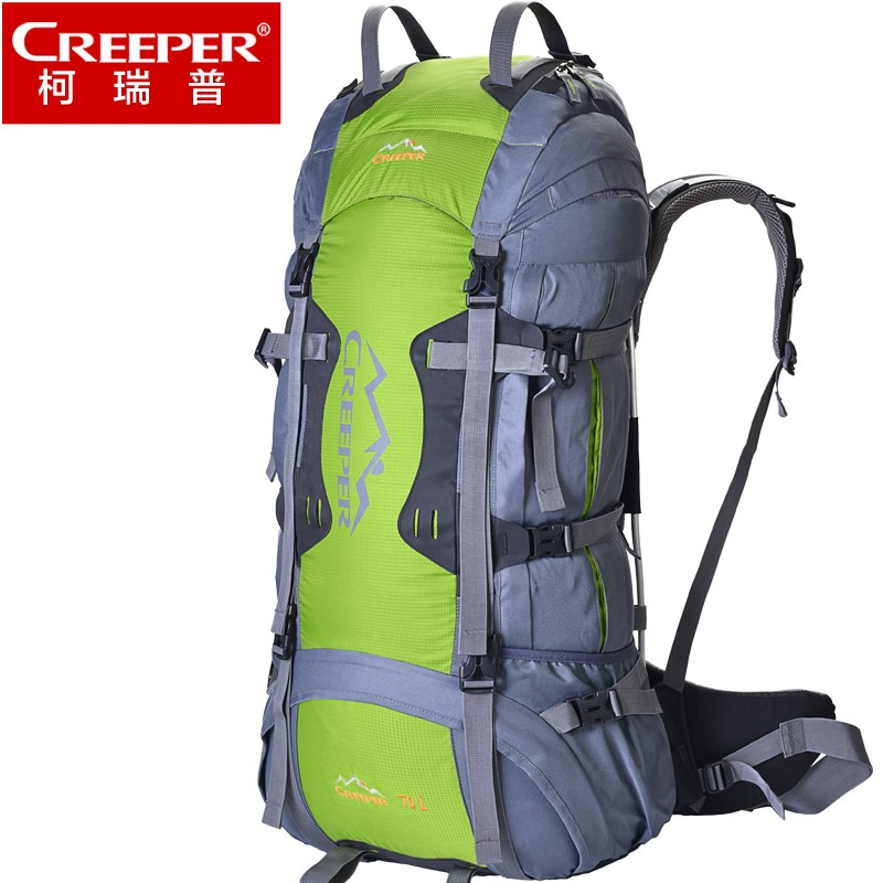 Creeper large camping hiking backpacks outdoor sport bag trekking travel backpack 70l rucksack sac a dos randonnee sporttas creeper camping hiking backpacks outdoor molle waterproof travel sport bag daypack trekking rucksack with rain cover sporttas