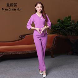 Японский стиль Корея Спа оздоровительный клуб медицинские красивая Униформа носить массаж ног Рабочая одежда