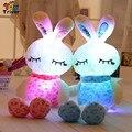 Triver Juguete Colorido Luminoso LED light-up juguetes Conejo Muñeca bebé niños Bebé Creativos Novia regalo Deco Casero gratis