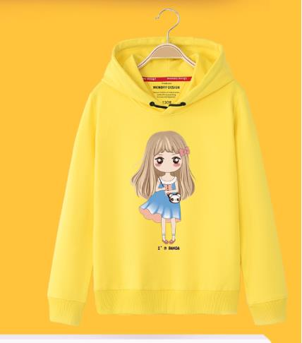 Girls hoodie 2019 new spring wear in the big boy style loose coat mother and daughter