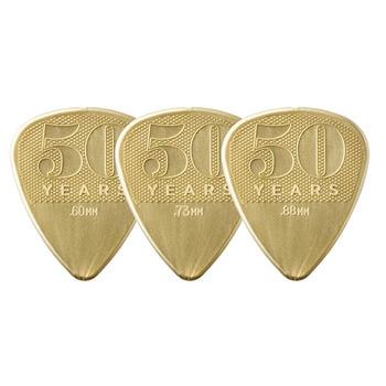 3 pcs/lot Dunlop 50th Anniversary Guitar Picks Bass Mediator Acoustic Electric Classic Parts Nylon Grip