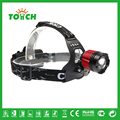Factory Aluminum Alloy head lamp Rechargeable Head lights 3 modes Zoom High Power Flashlight SOS Camping front lighting