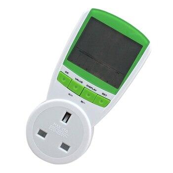 TS-838 UK enchufe medidor de energía medidor de potencia voltaje actual frecuencia Monitor analizador con pantalla de Factor-230 V