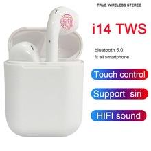 I14 СПЦ Bluetooth с сенсорным управлением наушники Беспроводной гарнитура спортивные наушники 3D бас PK i10 i12 i13 СПЦ для iPhone Xiaomi huawei