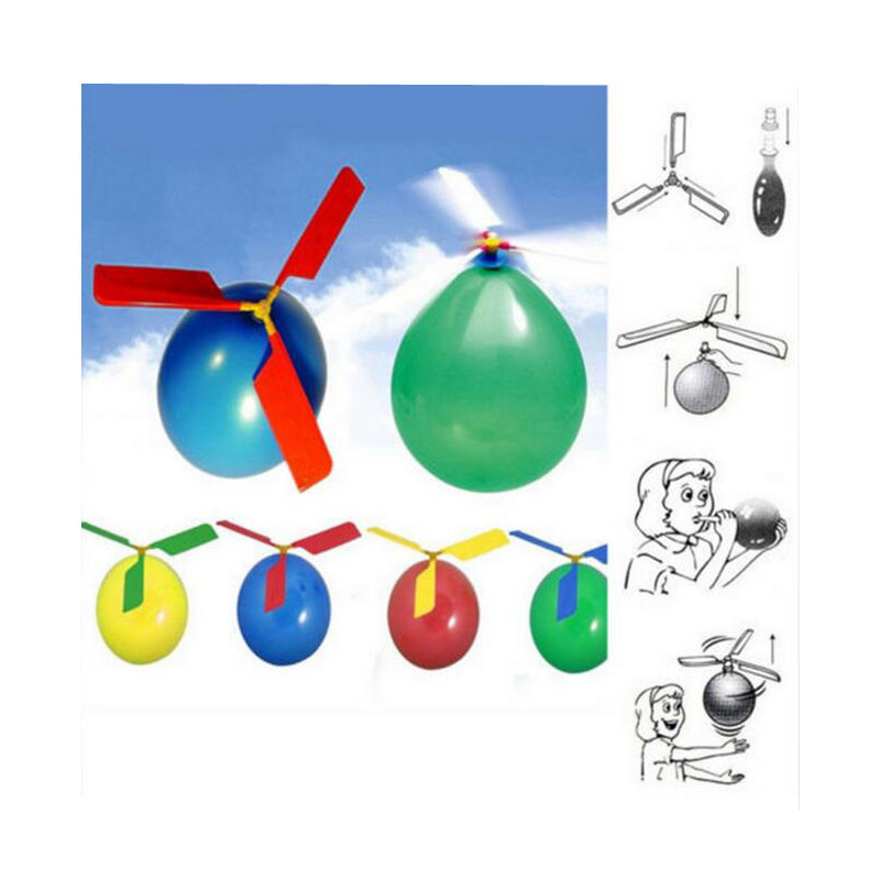 Balloon Helicopter Flying Toy Funny Traditional Classic Sound Child Birthday Xmas Party Bag Stocking Filler Gift