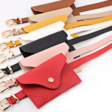 2Pcs/Set Women PU Leather Belt Pack With Removable Waist Fashion Bags