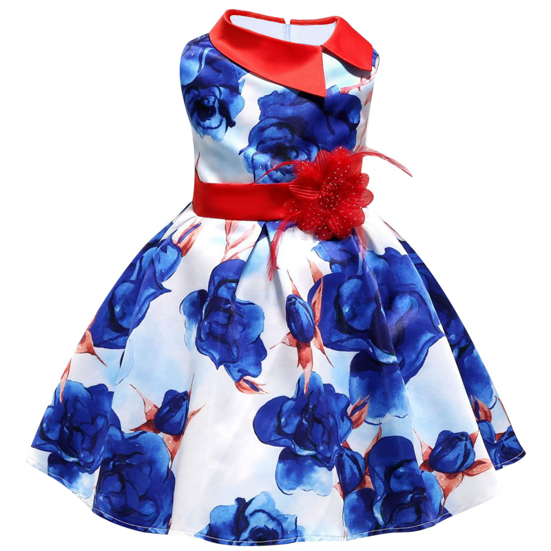 ALI shop ...  ... 32920065740 ... 3 ... 2018 New Summer Girls Birthday Wedding Party Princess Dresses Kids Printing Dress Girl Christmas Prom Dress 2-9 years old ...