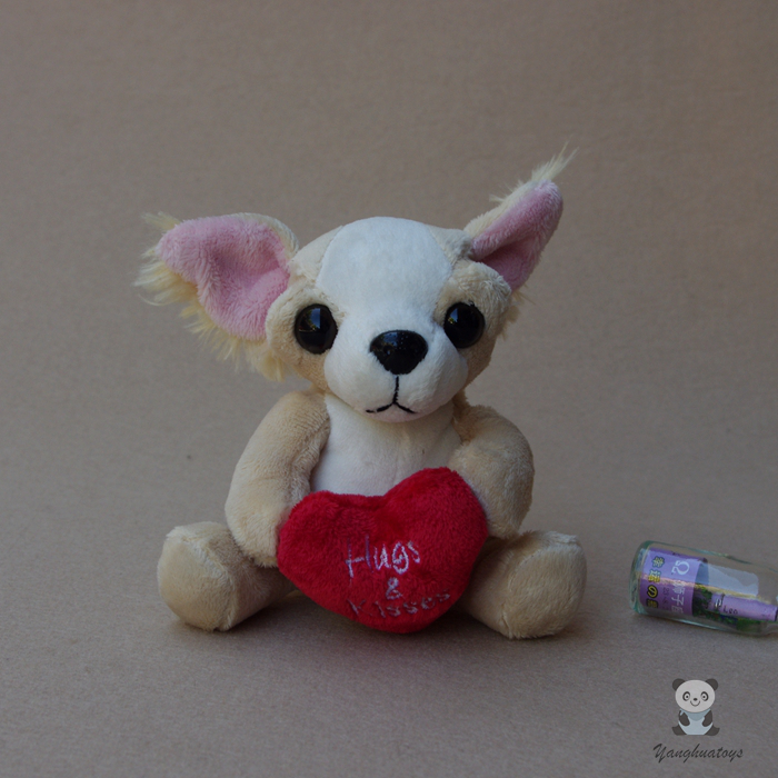 Stuffed Animals  Plush Toy simulation Chihuahua Doll Toys Baby Gifts Dolls cute